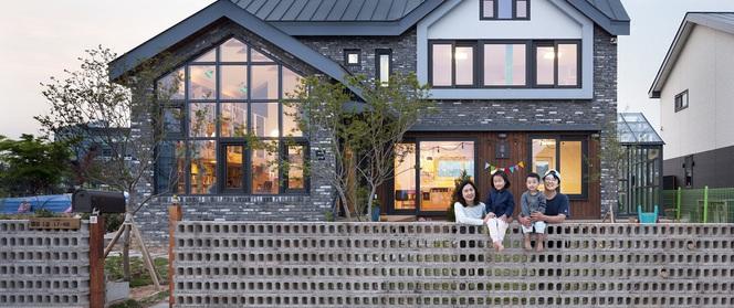 Ngôi nhà với phong cách tối giản đẹp như trong phim của gia đình 4 người ở Hàn Quốc