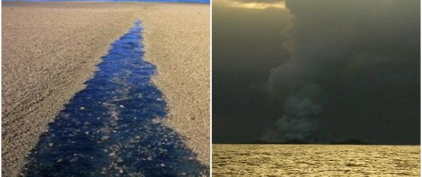 """Thấy """"cát vàng"""" nổi lềnh bềnh trên biển, các thủy thủ tới xem và không tin vào mắt mình"""