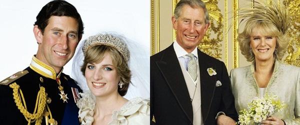 """""""Đặt lên bàn cân"""" hai lần cưới vợ khác nhau một trời một vực của thái tử Charles"""
