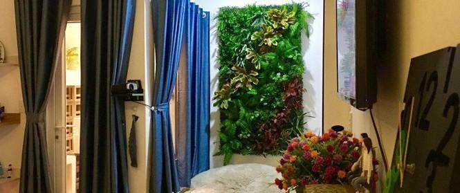 Bà mẹ hai con ở Sài Gòn chia sẻ cách tự tay làm bức tường xanh tươi đón Tết chỉ với 1 triệu đồng