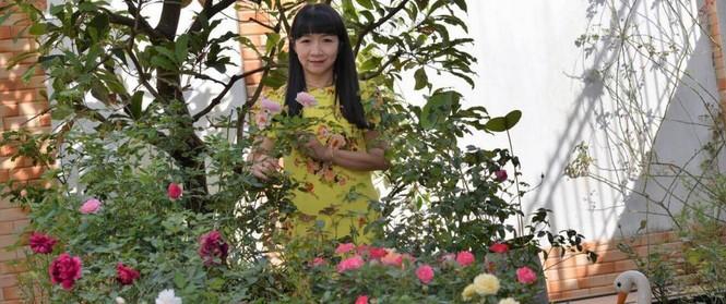 Mùng 1 Tết ghé thăm khu vườn hồng rực rỡ trồng trong chum vại độc đáo ở miền Trung