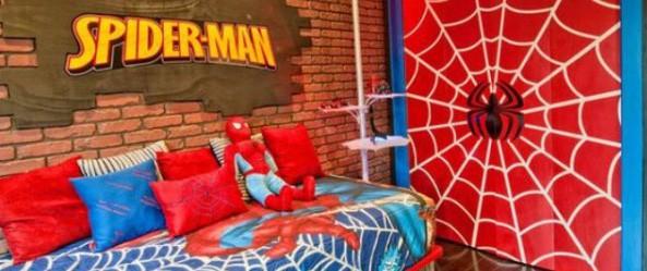 Không gian phòng ngủ bé trai thêm ấn tượng với cảm hứng trang trí từ Spiderman