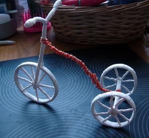 Khéo tay làm chiếc xe đạp chở hoa xinh xắn 7