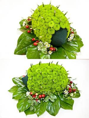 Cắm hoa cúc hình nhím con xinh xắn 5