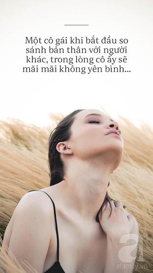 Nếu so sánh bản thân với người khác, trong lòng sẽ không yên bình