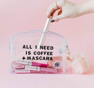 Làm túi đựng đồ make up trong suốt