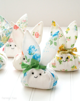 Thỏ xinh yêu từ vải dạ cho bé yêu