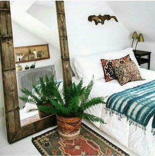 Tạo cảm giác mát mẻ với cây xanh trong phòng ngủ