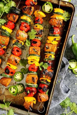 Thịt gà xiên nướng cho bữa tiệc picnic