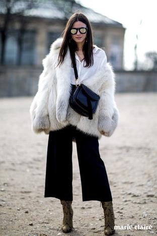 Áo choàng lông ấm áp cho ngày lạnh