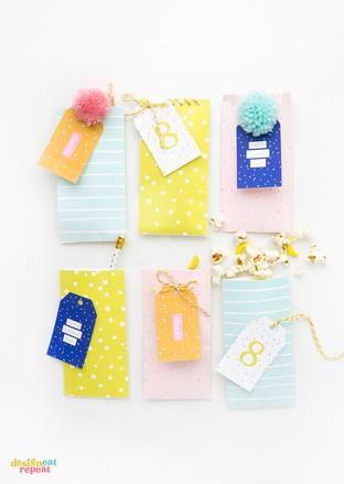 Làm túi đựng kẹo cho bé yêu từ giấy màu