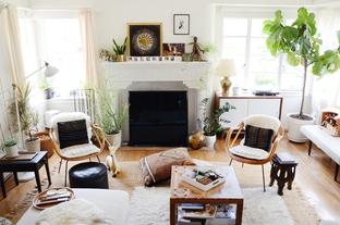 Bài trí phòng khách với phong cách boho