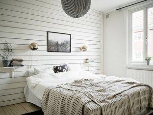 Phòng ngủ đơn giản với tone màu trắng