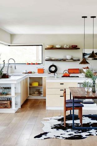 Phòng bếp với thiết kế gọn gàng đơn giản
