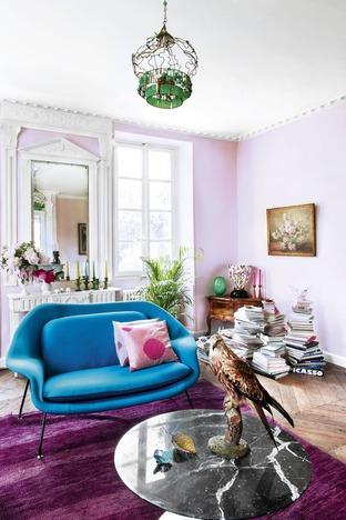 Ghế sofa xanh cho phòng khách thêm nổi bật