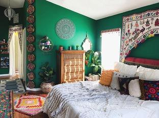 Phong cách Bohemian cho phòng ngủ thêm sức sống