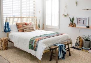 Phòng ngủ với thiết kế đơn giản hiện đại