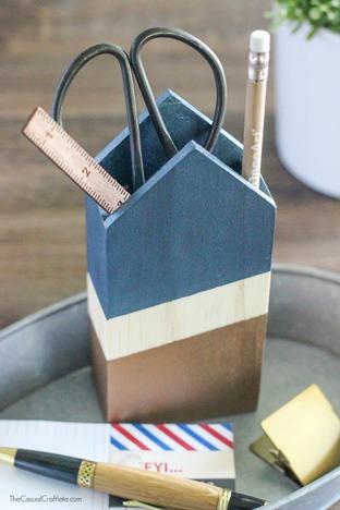 Tự đóng hộp đựng bút bằng gỗ đơn giản