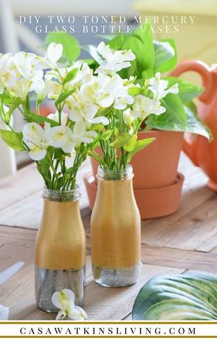 Tái chế lọ rỗng thành bình hoa