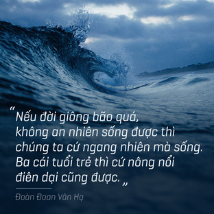 Nếu đời giông bão quá, cứ ngang nhiên mà sống
