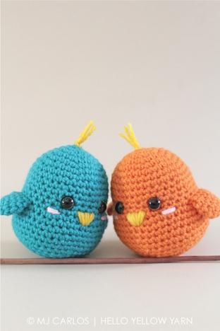 Móc len hình hai chú chim nhỏ xinh xắn