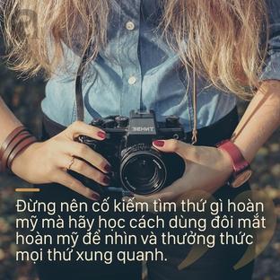 Đừng tìm kiếm những gì hoàn mỹ