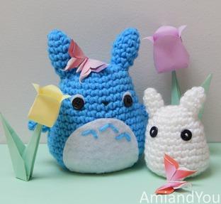 Kéo tay móc len thành chú mèo Totoro cực xinh
