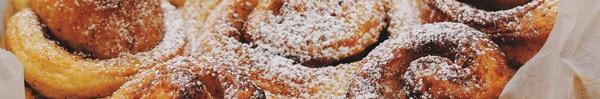 Bánh mỳ quế cuộn mềm thơm hấp dẫn cho bữa sáng