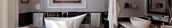 Những mẫu nhà tắm sang trọng chỉ sử dụng 2 màu đen – trắng