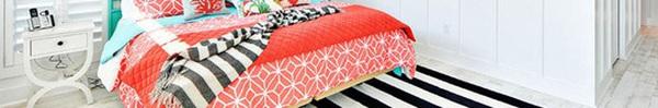 Trang trí phòng ngủ và phòng ăn sáng bừng với chiếc thảm trải sàn vô cùng đơn giản