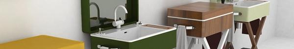 Phòng tắm nhỏ thêm độc đáo nhờ bồn rửa hình vali tiện ích