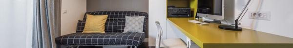 Căn hộ nhỏ 1 phòng ngủ vô cùng dễ thương khiến bạn yêu ngay từ cái nhìn đầu tiên