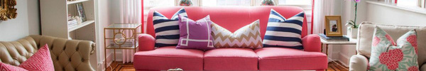 Ghế sofa hồng - điểm nhấn màu sắc tuyệt hảo cho phòng khách
