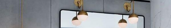 Những thiết kế đèn đẹp mắt làm sáng bừng không gian phòng tắm