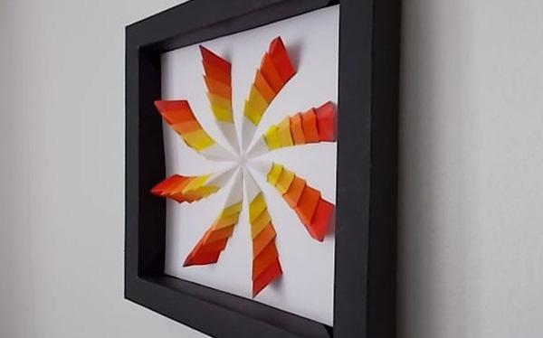 Tranh 3D giấy hiệu ứng lạ đẹp trang trí nhà đầy cá tính