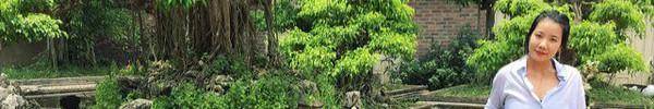 Khu vườn với hơn 30 chậu cây bonsai chục năm tuổi của bà chủ xinh đẹp ở Hà Nội