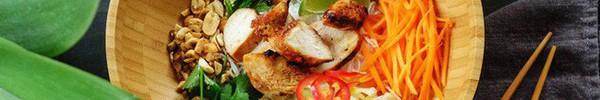Bún trộn thịt gà làm thật nhanh ăn thật ngon cực hợp để ăn kiêng
