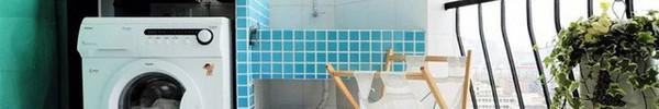 Đặt máy giặt ở ban công – giải pháp cho nhà ở chung cư có diện tích chật chội