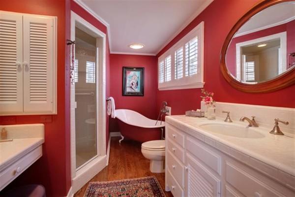 Kết quả hình ảnh cho phòng tắm đỏe