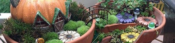 """Sân vườn đẹp hơn nhờ những chậu hoa vỡ """"tái sinh"""""""