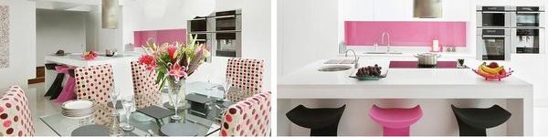 Những phòng bếp màu hồng đẹp ngất ngây