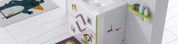 Trang trí phòng tắm đầy màu sắc vui nhộn cho bé