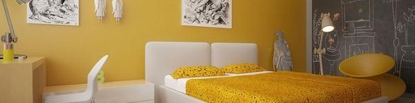 Trang trí phòng ngủ với sắc vàng ấm áp mang lại sự thư giãn tuyệt đối