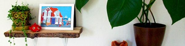 Biến những miếng gỗ nhỏ thành phụ kiện trang trí nhà độc đáo