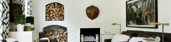 Trang trí nhà đẹp lạ với bức tường gạch trắng thần kì