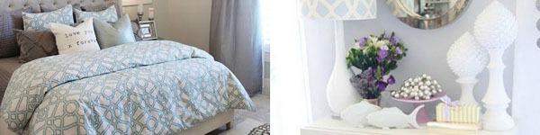 Phòng ngủ đẹp mơ màng với sắc xanh nhẹ nhàng và bay bổng