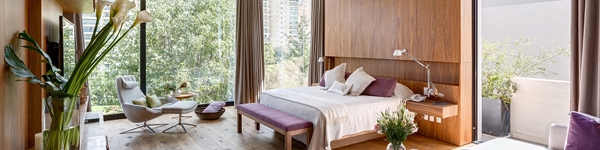 Những phòng ngủ có thiết kế tường kính đẹp đến mê hoặc