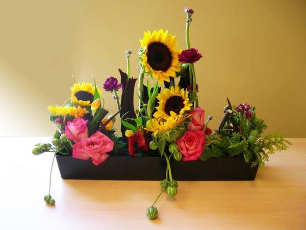 Cắm hoa hướng dương giản dị, tự nhiên 7
