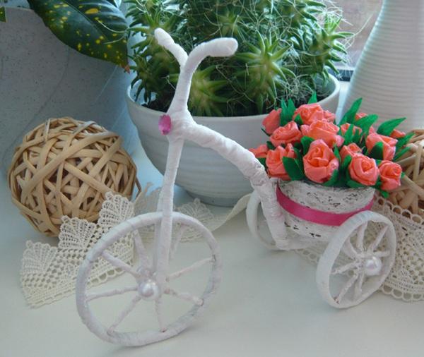 Khéo tay làm chiếc xe đạp chở hoa xinh xắn 10
