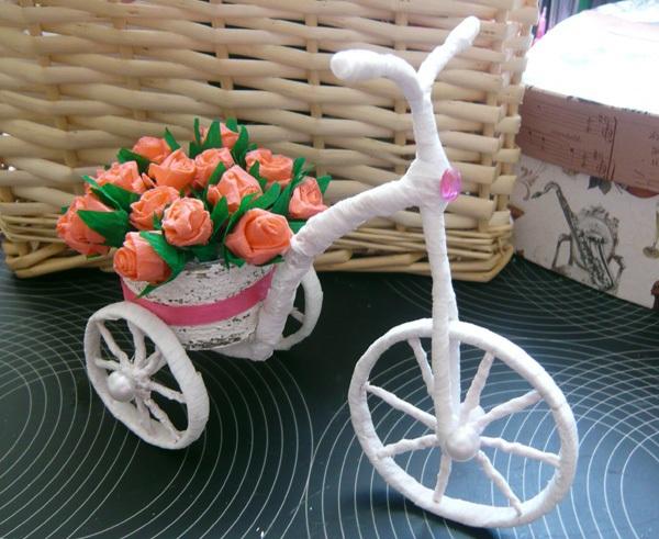 Khéo tay làm chiếc xe đạp chở hoa xinh xắn 11